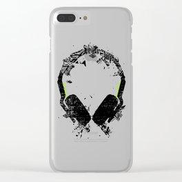 Art Headphones Clear iPhone Case