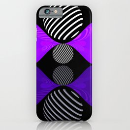 violet twin glob iPhone Case
