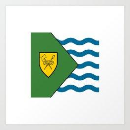 Flag of Vancouver Art Print
