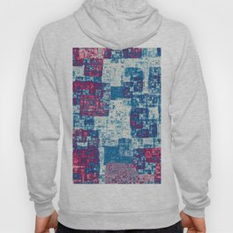 Abstract rectangles in red and blue Hoody