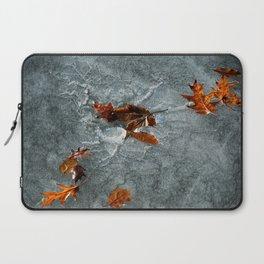 Autumn Leaves on Ice Laptop Sleeve
