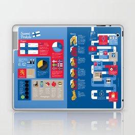 Finlandsinfografik (svensk version) Laptop & iPad Skin