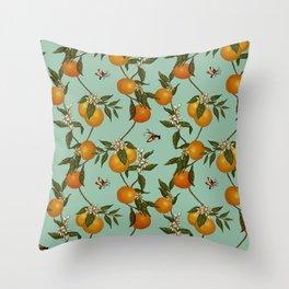Orange Pattern I Throw Pillow