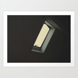 The infinite melancholy of the lonely window. Art Print