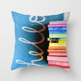Hello Book Rainbow Throw Pillow
