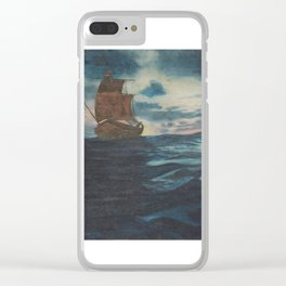 Sailing Boat- in oil Clear iPhone Case