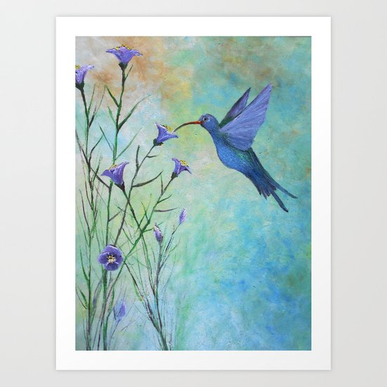 HUMMINGBIRD don't FLY AWAY FLY AWAY Art Print