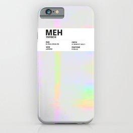 Meh - Colour Card iPhone Case