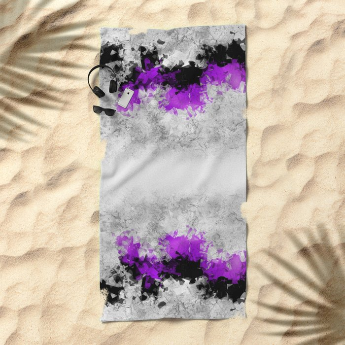 window curtain - puzzle -1- Beach Towel