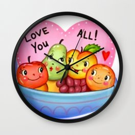 Love stickers Wall Clock