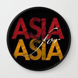 Asia for Asia Wall Clock