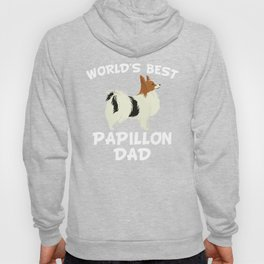 World's Best Papillon Dad Hoody