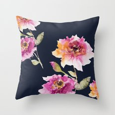 Dhalia -navy Throw Pillow