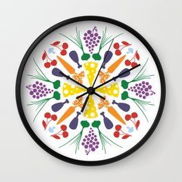 Vegetables Mandala Wall Clock