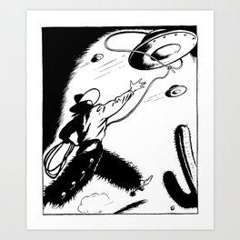 UFO's over Texas Art Print