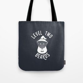 Level Two Beards Brand Swag (Grey) Tote Bag