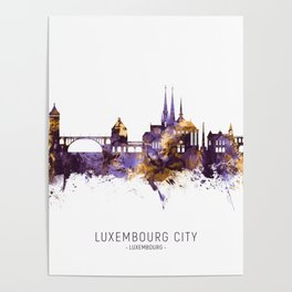 Luxembourg City Skyline Poster