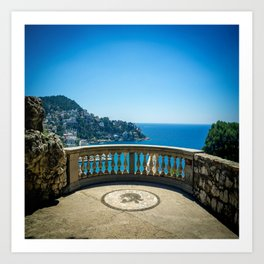 Chateau View in Nice Art Print