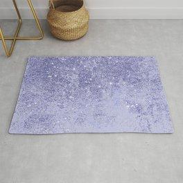 Elegant girly lavender faux glitter marble pattern Rug