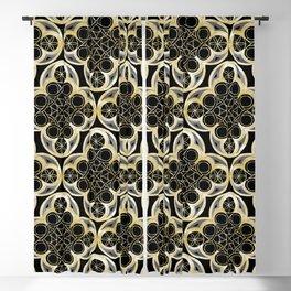 Golden Moroccan Tile Glam #1 #pattern #decor #art #society6 Blackout Curtain