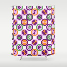 Multi-color Dog Pattern Shower Curtain