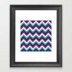 Chevron - Diva Framed Art Print