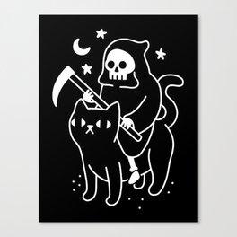 Death Rides A Black Cat Canvas Print