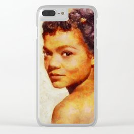 Eartha Kitt, Music Legend Clear iPhone Case