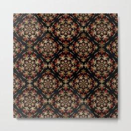 Turkish tulip - Ottoman tile pattern 15 Metal Print