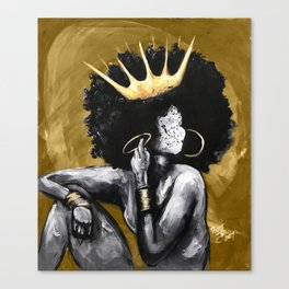 Naturally Queen VI GOLD Canvas Print
