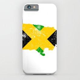 Distressed Jamaica Map iPhone Case