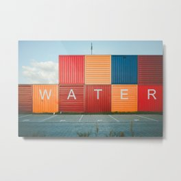 Amsterdam Noord Containers Metal Print