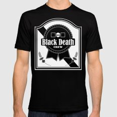 Black Death Ribbon Black MEDIUM Mens Fitted Tee