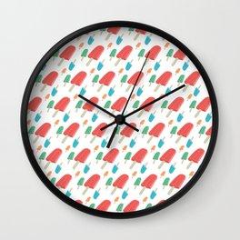 Paletas Pattern Wall Clock