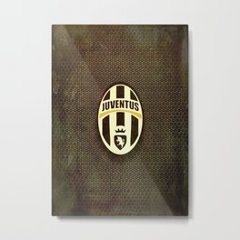FC Juventus metal background Metal Print