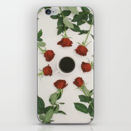 Roses and Coffee iPhone Skin