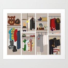 Yeezy's Closet Art Print
