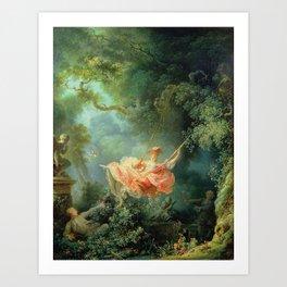 The Swing by Jean-Honoré Fragonard Art Print