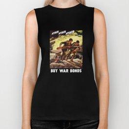 Buy War Bonds -- WW2 Propaganda Biker Tank