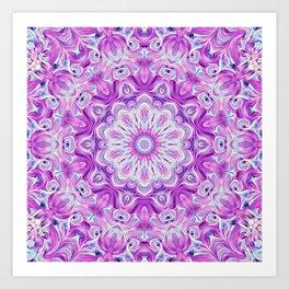 Flower Of Life Mandala (Lavender Dream) Art Print