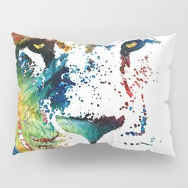 Colorful Lion Art By Sharon Cummings Pillow Sham
