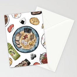 Favourite Japanese Foods Stationery Cards
