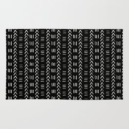 Mudcloth No.2 in Black + White Rug