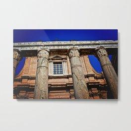 The Temple of Antonius & Faustina Metal Print