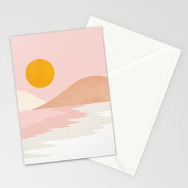 Abstraction_OCEAN_BEACH_SURF_Minimalism_001 Stationery Cards
