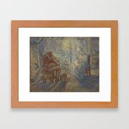 Vincent Van Gogh - Night after Millet Framed Art Print