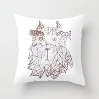 schnauzer Throw Pillows featuring schnauzer  by monicamarcov