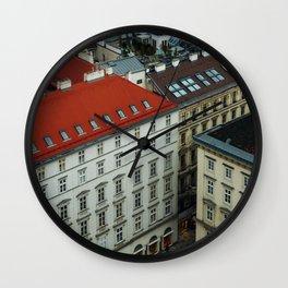 Vienna rooftops II Wall Clock