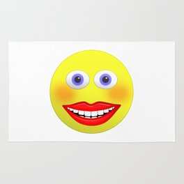 Smiley Female With Big Smiling Mouth Rug