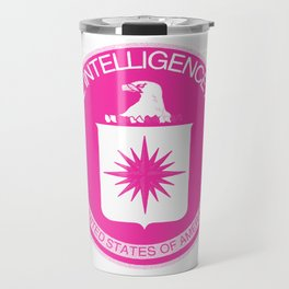 CIA Logo Pink Travel Mug